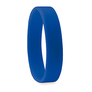 JAKUB Jednoduchý silikonový náramek, modrý