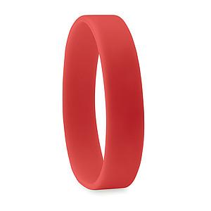 JAKUB Jednoduchý silikonový náramek, červený