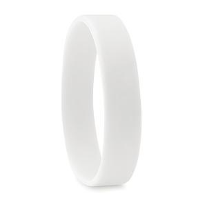 JAKUB Jednoduchý silikonový náramek, bílý