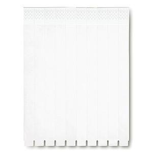 DAUTER Sada 10ti kusů jednorázových náramků, bílá