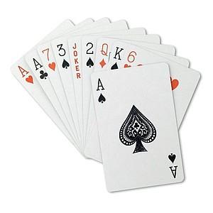 Klasické hrací karty v plastové krabičce, 54 karet.