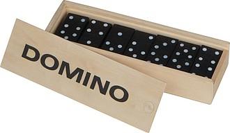 Klasická hra domino v dřevěné krabičce