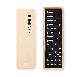 Plastové domino v dřevěné krabičce