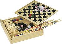 DÁMA souprava stolních her, dřevěná krabička