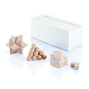 HORUS Sada tří dřevěných hlavolamů v krabičce