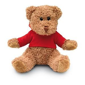 HONZIK Medvídek v tričku s kapucí, červená