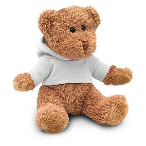 HONZIK Medvídek v tričku s kapucí, bílá