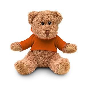 Medvídek v tričku s kapucí, oranžový