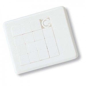 Plastové puzzle, bílá