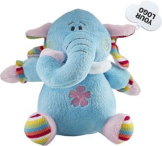 MOBY Plyšový slon, barevná, s cedulkou na potisk