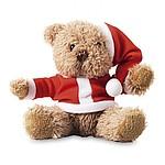 Plyšový medvěd v oblečku Santa Clause