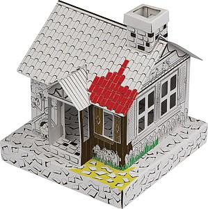 DUWAMI Skládací papírový domeček, bílá