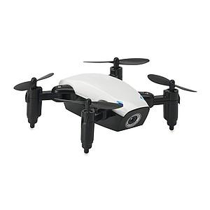 Wifi skládací dron obsahující kameru pro fotografování a natáčení videa, bílý