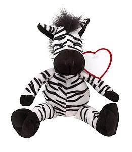 LORENO Plyšová zebra