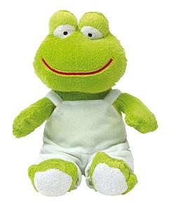 FRENKY Plyšová žába s bílými kalhotami