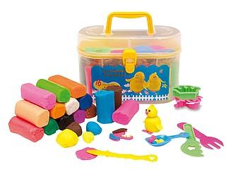 RACETY Sada plastelíny v plastovém kufříku s formičkami