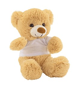 TEDDY Plyšový medvídek s bílým tričkem
