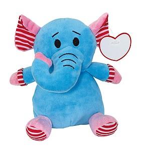 Plyšový slon s visačkou pro potisk