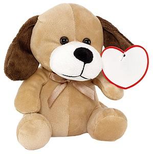 ALVITO Plyšový pes, cca 16cm