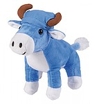 NELOVA Plyšová kravička s hebkou srstí a modrým šátkem