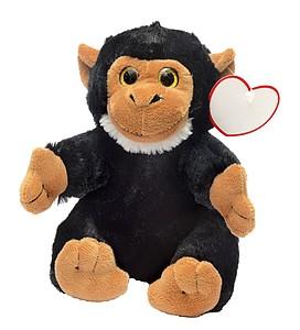 Plyšová opička s visačkou pro potisk