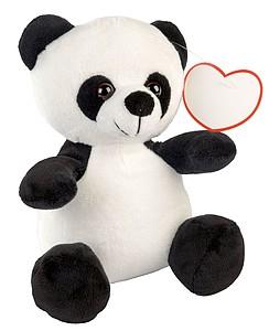 Plyšová hračka Panda, černá, bílá