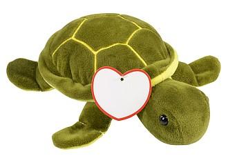 Plyšová hračka Želva, zelenožlutá