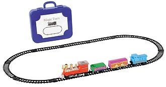 Elektrický vláček pro děti v kufříku, vícebarevná