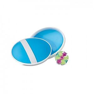 Sada her obsahuje míček a 2 lapače míčku, modrá
