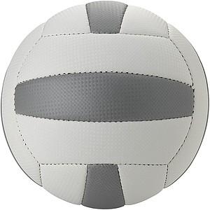 Míč na plážový volejbal, velikost 5, bílá, stříbrná