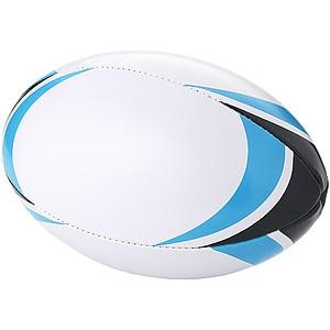 Rugbyový míč, bílá, modrá