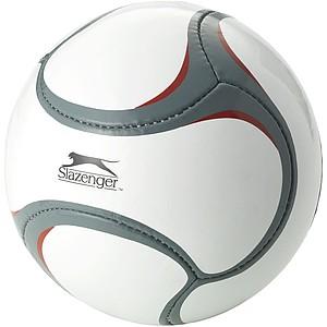 Fotbalový míč, velikost 5, bílá, červená, šedá