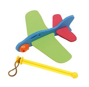 Skládací letadýlko s prakem