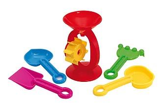 Sada hraček na písek, nadruženo z různých barev