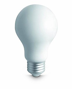 ZEBU Antistresová pomůcka ve tvaru žárovky, bílá