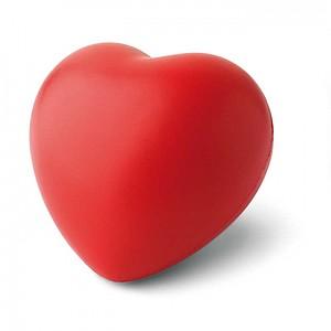 Antistres ve tvaru srdce, PU materiál, červená