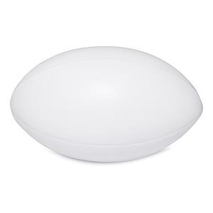 Anti-stress míček ve tvaru rugby míče, bílý