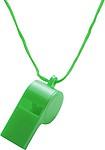 FISTULA Píšťalka se šňůrkou na krk, zelená