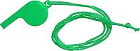 FILIPKA Plastová píšťalka se šňůrkou na krk, zelená
