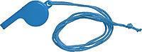 FILIPKA Plastová píšťalka se šňůrkou na krk, modrá