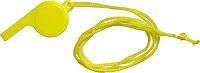 FILIPKA Plastová píšťalka se šňůrkou na krk, žlutá