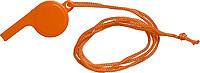 FILIPKA Plastová píšťalka se šňůrkou na krk, oranžová