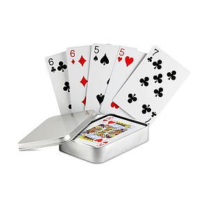 AMIGO Klasické hrací karty v plechovce