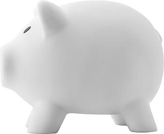 PIGY Plastová pokladnička prasátko, bílé