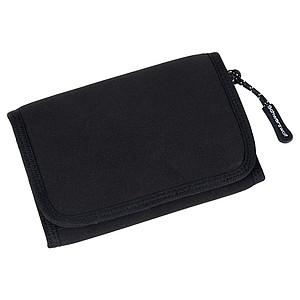 SCHWARZWOLF COIN neoprénová peněženka, černá