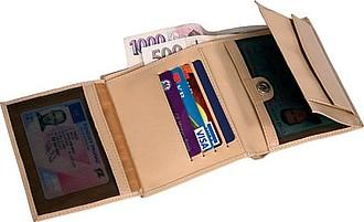 PESO kožená pánská peněženka, béžová