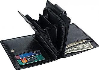 LEK peněženka z černé kůže
