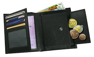 """peněženka kožená """"Messina"""", černá"""
