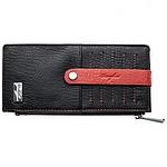 Ferraghini tenká peněženka se 6 přihrádkami na karty,červená