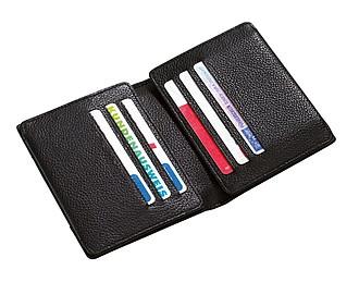 Kožená peněženka na kreditní karty